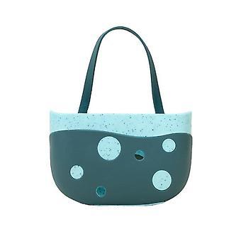 3Pcs Sink Shelf Soap Sponge Drain Rack TPR Storage Basket Bag Faucet Holder Adjustable Bathroom