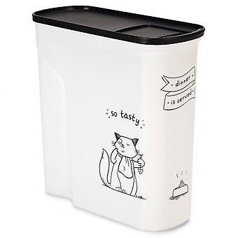 Zakrivený nádoba na potraviny pre mačku - 2,5 kg