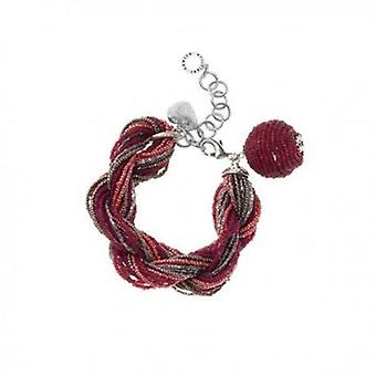 Ottaviani jewels bracelet with beads & crystals red 470074
