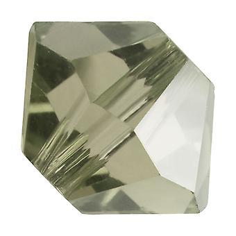 Preciosa Czech Crystal, Bicone Bead 3mm, 36 Pieces, Black Diamond