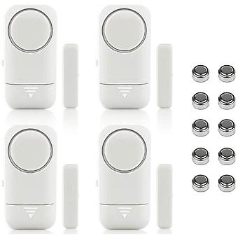 4pcs Door Alarm And Window Wireless Magnetic Sensor For Home Safety Safety Safety Children - Anti-intrusion Anti-flight Against Foodgrabraging 120db S