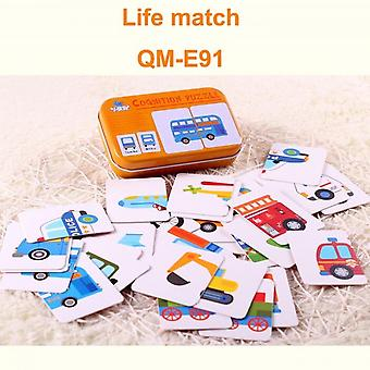 Baby Educational Toys New Head Learning Educational Car Model Cognitive Diagram A Pair Of Learning Toys