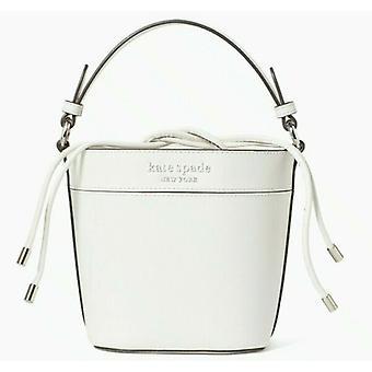 Kate Spade Cameron Piccola Borsa Bucket Pelle Bianca WKRU6734