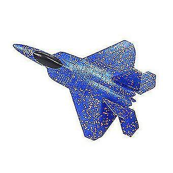 avion de combat en mousse, modèle réduit d'avion, chasseur plané pour enfants (bleu)