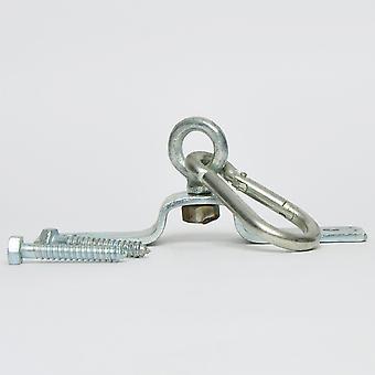 Tuf Använd kraftig takkrok med vridbar silver