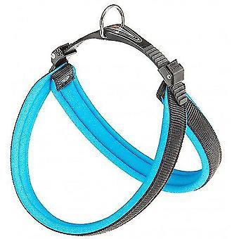 Pet collars harnesses dog harness agila nylon/pu black/blue 44-52 cm