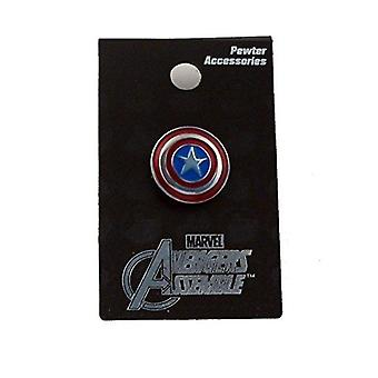Video game consoles captain america colored pewter lapel pin