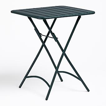 SKLUM Opklapbare stalen tafel (60x60 cm) Janti Staal Jungle groen