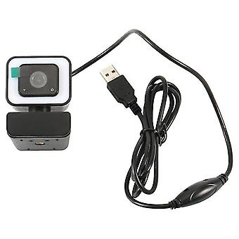 Web-kamera mikrofonilla, 2k web-kamera valolla, kiinteä tarkennus, automaattinen valonkorjaus, videota varten