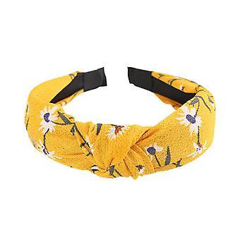 6PCS Fashion Top Knot Twist Hårbånd Elastisk hovedbeklædning Udskrivning Cloth Hair Hoop Headwrap Pandebånd