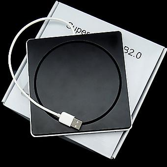 Laptop type zuiging slanke Usb 2.0 sleuf in externe drives box behuizing geval