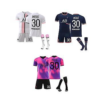 Messi Psg Jersey, Paris Team T-skjorte-Messi-30, Hjemme, Borte-Jersey Sett (barnestørrelse)