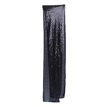 Black Sequin Table Runner Rectangulaire Glitter Runner Nappe pour la fête de noël de mariage