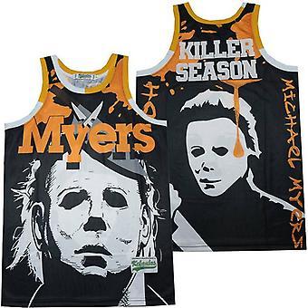 Hommes Michael Myers Killer Saison Basket Jersey S-xxl,90s Hip Hop Vêtements pour la fête, lettres cousues et chiffres