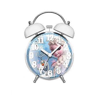 Opiskelijoiden hiljainen metallihälytys, digitaalinen kello, lasten herätyskello (valkoinen)