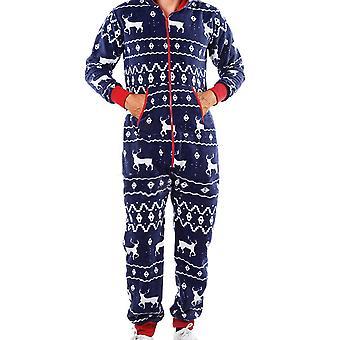 Bărbați crăciun cu glugă Onesie All In One Salopeta Nightwear