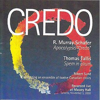 Robert Sund - R. Murray Schafer: Apocalypsis Credo; Thomas Tallis: Spem in Alium [CD] USA import