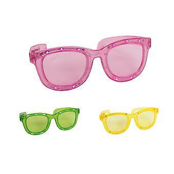 Occhiali luce lampeggiante segnale di girata di occhiali da vista occhiali da sole occhiali scherzo occhiali