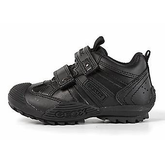 物が貰える男の子サベージ ブラック学校靴
