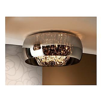 Schuller Argos Oval Glass Bowl Flush Ceiling Light Fitting