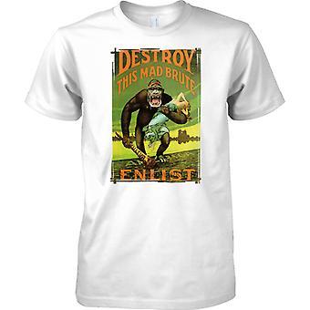 WW2 Zerstören Sie Propaganda-Plakat - diese verrückten Brute - Kinder T Shirt