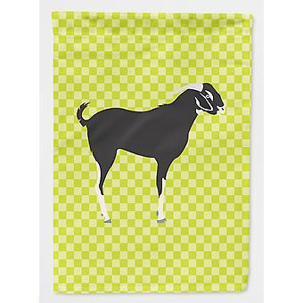 Carolines Treasures  BB7710GF Black Bengal Goat Green Flag Garden Size