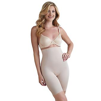 Naomi and Nicole 7349-1-020 Women's Nude Firm/Medium Control Slimming Shaping High Waist Long Leg Brief