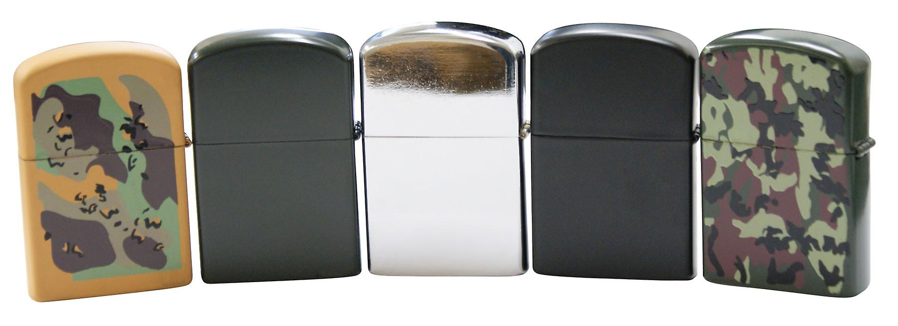 Traditional Windproof Lighter Refillable Flip Top