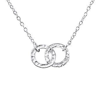 Círculo - collares de llanura de plata esterlina 925 - W23306X