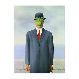 Son of Man Poster Poster Print by Rene Magritte