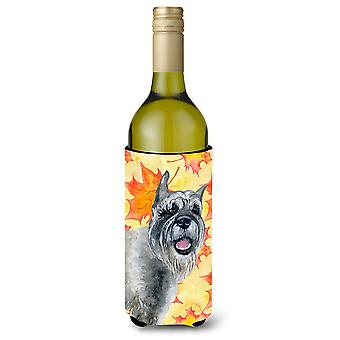 Schnauzer Fall Wine Bottle Beverge Insulator Hugger