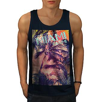 Miami Palm Beach muži NavyTank Top | Wellcoda