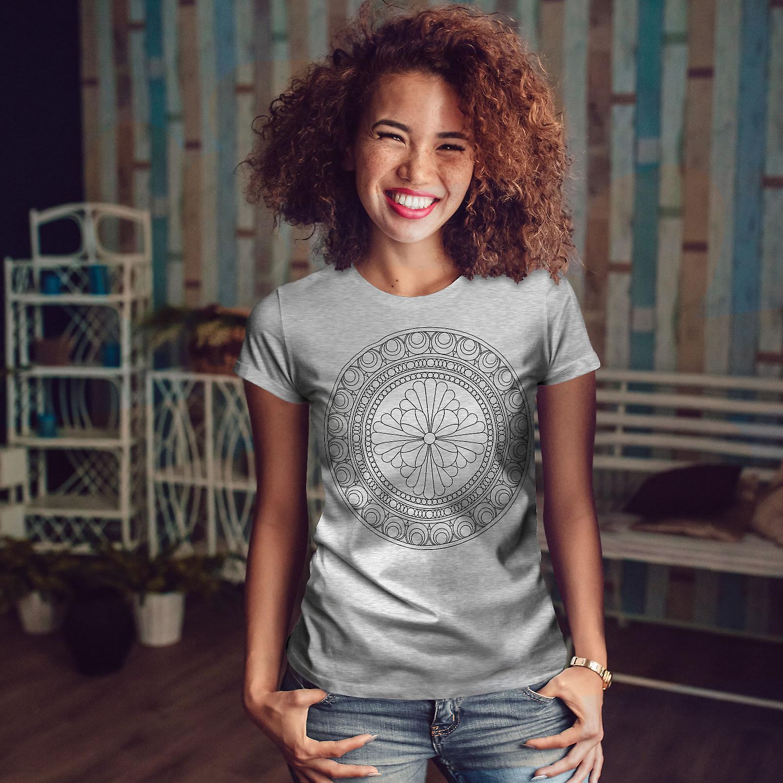 Mandala de GreyT-chemise femme | Wellcoda