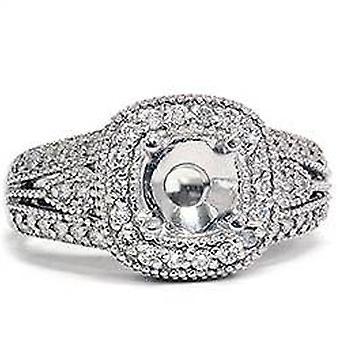 5 / 8ct antik som brett Diamond Engagement inställning 14K