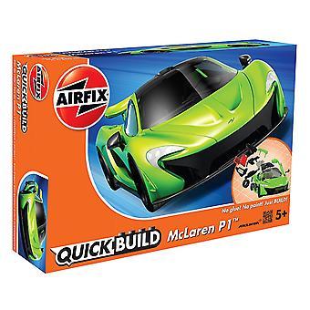Airfix schnellen Aufbau Mclaren P1 Modell - grün