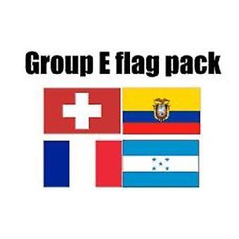 Ryhmä E Jalkapallo World Cup 2014 lippu Pack (5 jalkaa x 3 ft)