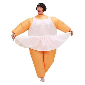 Opblaasbare Ballerina kostuum