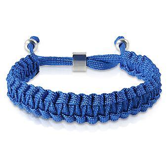 Gevlochten armband armband armband gevlochten nylon Blau Silber 7172 schipper