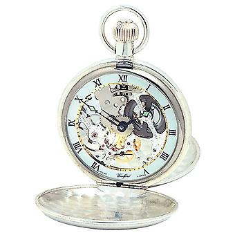 Woodford Silver Twin Lid Pocketwatch With Albert Chain 1065 Watch