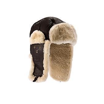 Eastern Counties Leather Mens Shelford Sheepskin Pilot Hat