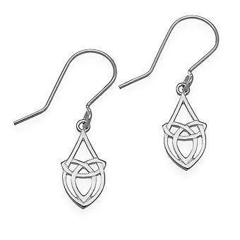 Sterling Silver Traditional Celtic Eternity Knotwork Design Pair of Earrings - E1633