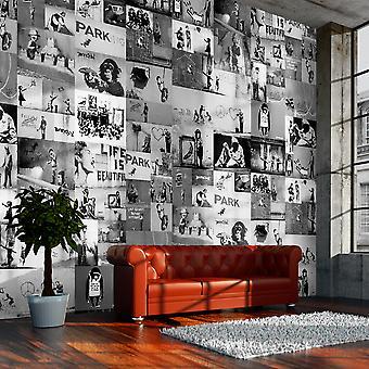 Wallpaper - Banksy - grey collage