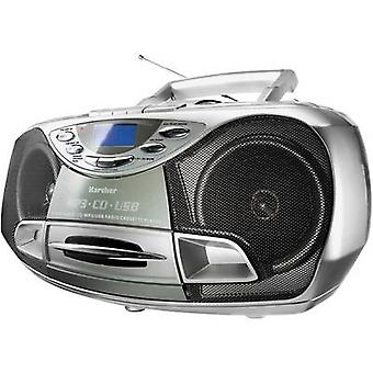 Karcher RR 510(N) Reproductor de CD de radio FM CD, cinta, plata USB