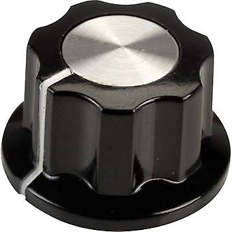 SCI RN-99F(6.4mm) Control knob Black, White (Ø x H) 19.5 mm x 11.5 mm 1 pc(s)