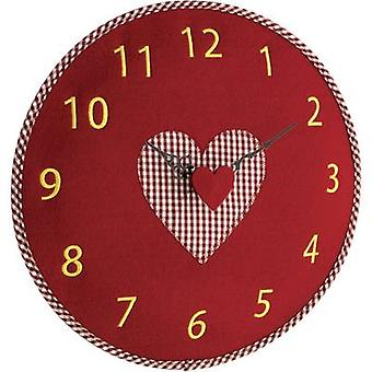 TFA Dostmann 60.3025.05 kvartsi seinä kello 330 mm x 40 mm punainen