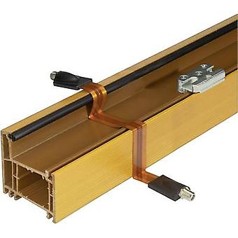 SAT Cable extension [1x F socket - 1x F socket] 25.00 cm Window duct, gold plated connectors Copper Renkforce
