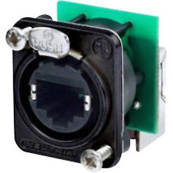 Série de conector de dados RJ45 etherCON D soquete, ângulo certo número de pinos: 8P8C NE8FDP-R-B Black Neutrik NE8FDP-R-B 1 computador (es)