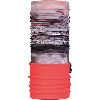 Buff New Polar Neck Warmer in Tephra Multi/Coral Pink