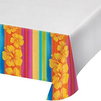 Creative Converting 108in Aloha Summer Printed Plastic Tablecover
