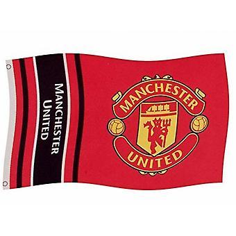 Manchester United FC bandera de rayas de marca
